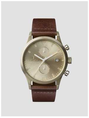 Triwa Unisex Brown Leather Strap Chronograph LCST116CS010417