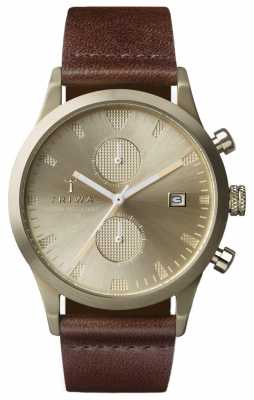 Triwa Unisex Brown Leather Strap Chronograph LCST116-CS010417