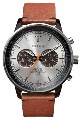Triwa Unisex Silver Dial Brown Leather Strap NEAC102-ST010212