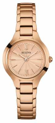 Bulova Womens Rose Gold Finish 97L151