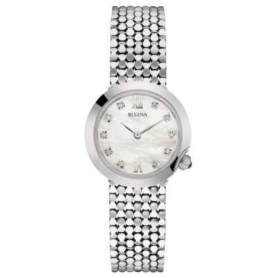 Bulova Ladies Diamond Silver Steel Bracelet Watch 96S163