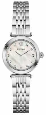 Bulova Womens Mother Of Pearl Dial Metal Strap 96S167