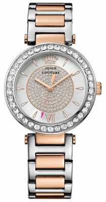 Juicy Couture Womens Two Tone Strap Diamante Dial 1901230