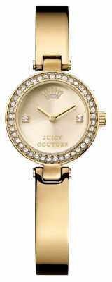 Juicy Couture Womens Gold Strap Round Gold Dial 1901236