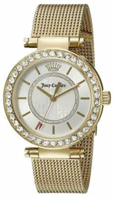 Juicy Couture Womens Gold Plated Strap White Dial 1901373