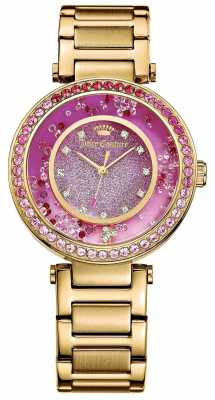 Juicy Couture Womens Gold Plated Strap Pink Dial 1901404