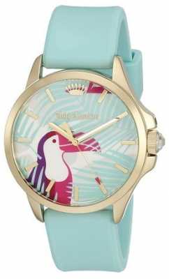 Juicy Couture Womens Turquoise Strap Parrot Dial 1901426