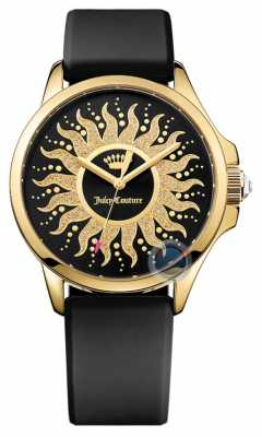 Juicy Couture Womens Black Strap Sun Dial 1901429