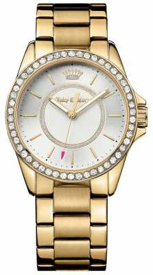Juicy Couture Womens Gold Metal Strap Silver Dial 1901409