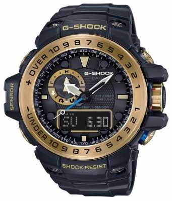 Casio Gulfmaster Master Of G Black And Gold GWN-1000GB-1AER
