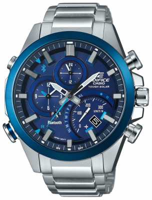Casio Edifice Bluetooth Sync Tough Solar Smartwatch Blue EQB-500DB-2AER