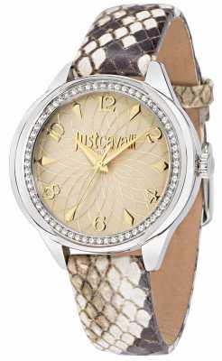 Just Cavalli Womens Black Leather Watch R7251571507