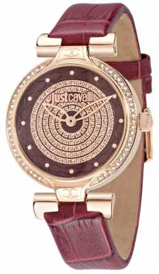 Just Cavalli Lady J 36mm Burgundy Dial R7251579502