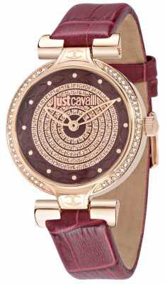 Just Cavalli Lady J 36mm Burgundy Dial R7251579502