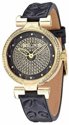 Just Cavalli Womens Black Leather Watch R7251579503