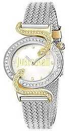 Just Cavalli Sin JC Silver Dial Mesh Bangle R7253591508