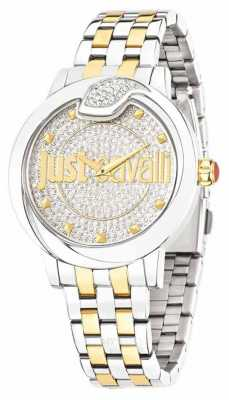 Just Cavalli Spire Diamond Dust Dial Yellow Gold Plated R7253598504