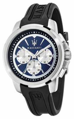 Maserati Sfida 44mm Multi Blue Dial Black R8851123002