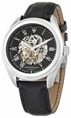 Maserati Traguardo 45mm Auto Skeleton Black R8871612001