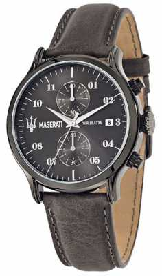 Maserati Mens Brown Leather Quartz Watch R8871618002
