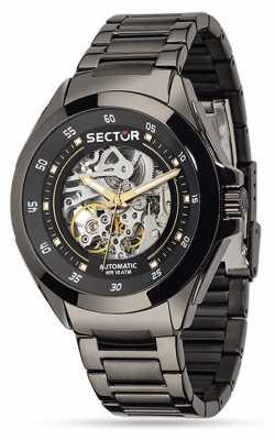 Sector Mens 44mm Automatic Black Dial Bracelet R3223587001
