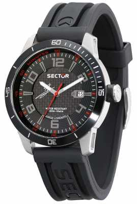 Sector 850 Black Dial Rubber Strap R3251575004
