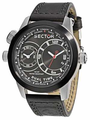 Sector OVERSIZE Dual Time Black Dial R3251102125