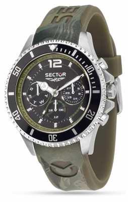 Sector Mens Green Rubber Quartz Watch R3251161023