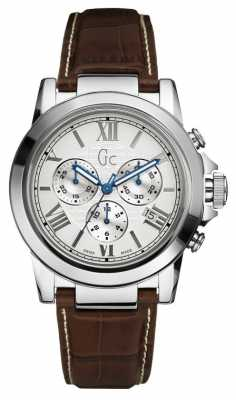 Gc Mens B2 Class Brown Leather Strap Chronograph X41003G1