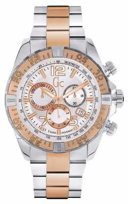 Gc Mens Gc Sportracer Two Tone Chronograph Y02006G1