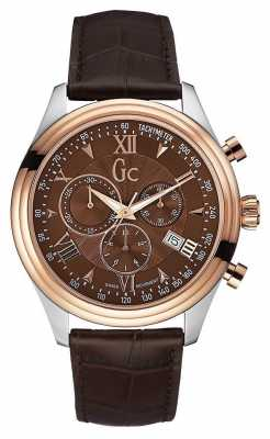 Gc Mens Gc Smartclass Chronograph Brown Leather Y04003G4