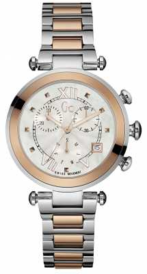 Gc Womens Gc Ladychic Two Tone Chronograph Y05002M1