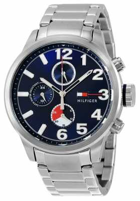 Tommy Hilfiger Mens Jackson Stainless Steel Blue Dial 1791242