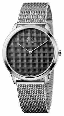 Calvin Klein Mens Minimal Silver Mesh Watch K3M2112X