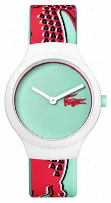 Lacoste Womens Light Blue Dial White Silicone Strap 2020114