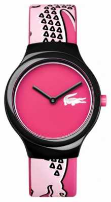Lacoste Womens Goa Pink Dial Pink Silicone Strap 2020115