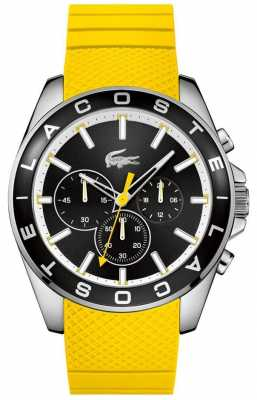 Lacoste Mens Yellow Rubber Strap Chronograph 2010852