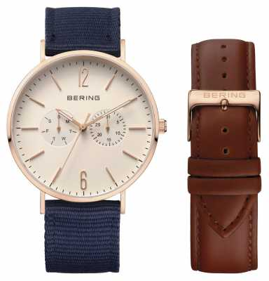 Bering Unisex Two Strap Cream Dial 14240-564