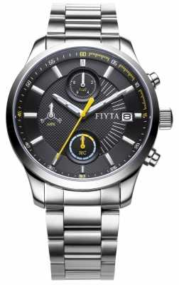 FIYTA Mens Stainless Steel Strap Chronograph Dial G790.WBW