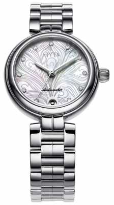 FIYTA Womens Mother Of Pearl Dial Metal Strap LA8622.WWW