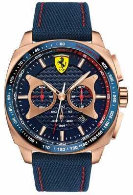Scuderia Ferrari Mens Blue Fabric Strap Blue Dial 0830293