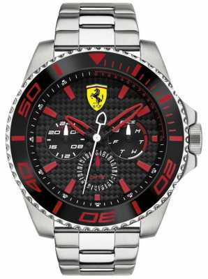 Scuderia Ferrari Men's Steel Multifunction Carbon Fibre Dial Watch 0830311