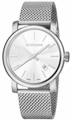 Wenger Mens Urban Vintage Silver Dial Silver Strap 01.1041.121