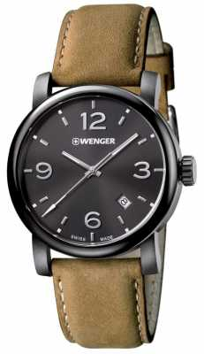 Wenger Mens Urban Metropolitan Brown Leather Strap 01.1041.129