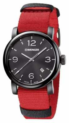 Wenger Mens Metropolitan Red Fabric Strap 01.1041.132