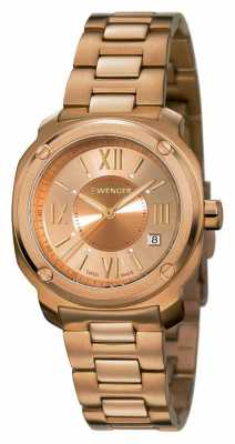 Wenger Womens Edge Romans Rose Gold Plated Strap 01.1121.112