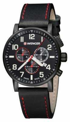 Wenger Mens Attitude Black Chronograph Dial 01.0343.104