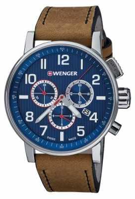 Wenger Mens Attitude Blue Chronograph Dial 01.0343.101