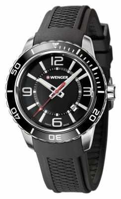 Wenger Mens Roadster Black With Unidirectional Bezel 01.0851.117