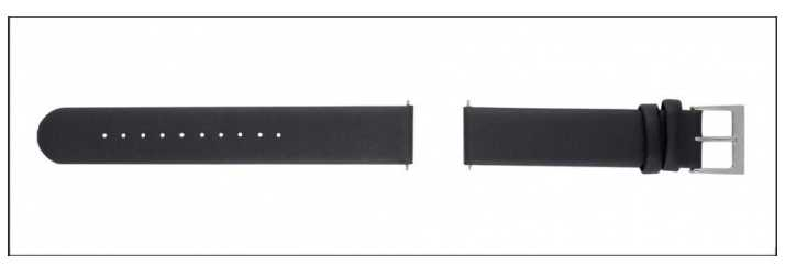 Mondaine Geniuine Leather Womens Black Strap Only 16mm FE311620Q